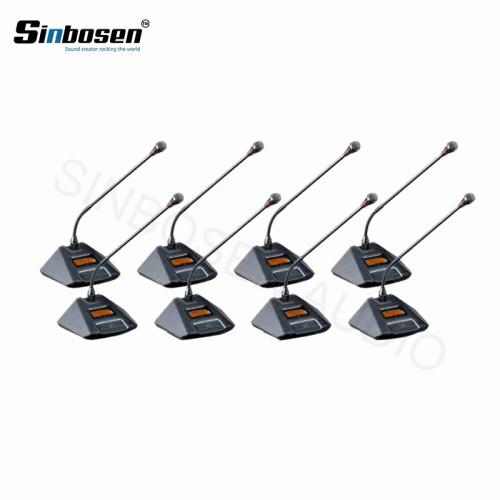 Micrófono de mesa de conferencia inalámbrico Sinbosen AT880 8 mesa de reunión micrófonos