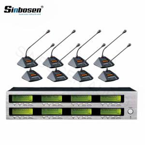 Sinbosen AT880 8 Mesa de reunião Microfone sem fio para mesa de reunião microfônica