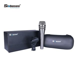 Microphone vocal vocal dynamique Sinbosen KSM8 Silver pour enregistrement