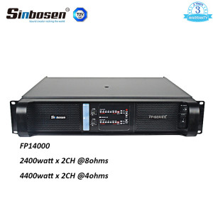 Sinbosen FP14000 4400w 2 channel high lab power amplifier for dual 18-inch bass
