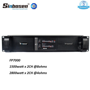 sinbosen audio 1500watt 2 channel FP7000 power amplifier