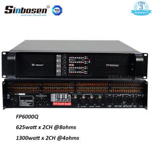 FP6000Q 4CH home theater amplifier 600 watt rms amp Sinbosen
