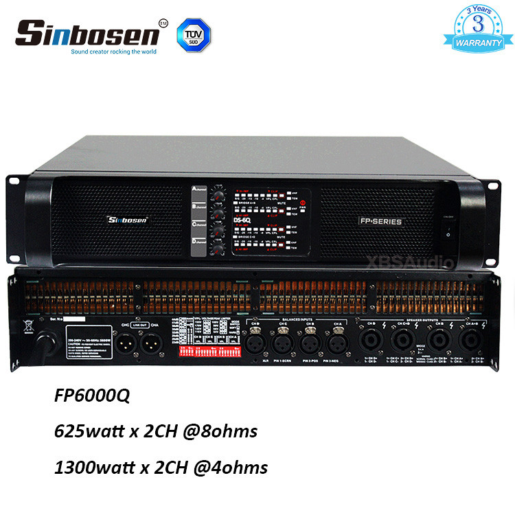 FP6000Q , 6,000W, 4 Channel Touring Amplifier
