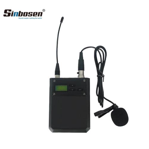 Sistema de micrófono de clip de collar inalámbrico ligero A-100D con receptor de un solo canal UHF