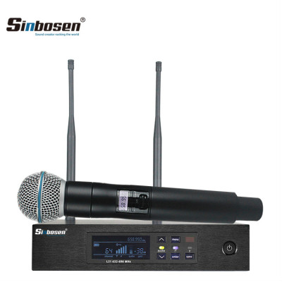 UHF Digital Single Wireless Handheld Microphone System QLXD4 + QLXD2/SM-58