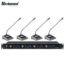 Sinbosen U-6004 4 Channels transmitter Meeting desktop Mics wireless conference system