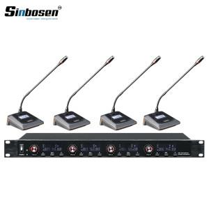 Sinbosen U-6004 Trasmettitore 4 canali Riunione del sistema di conferenza wireless per desktop