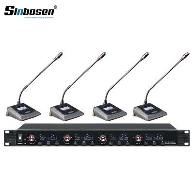 Sinbosen U-6004 4-Kanal-Sender Meeting-Desktop-Mikrofon-Funkkonferenzsystem