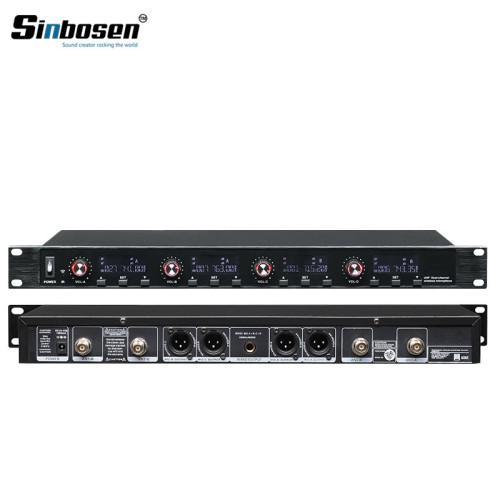 Sinbosen U-6004 Transmisor de 4 canales Sistema de conferencia inalámbrico para computadora de escritorio para reuniones