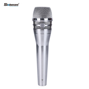 Sinbosen KSM8 Silver Dynamic Handheld Vocal Microphone for recording