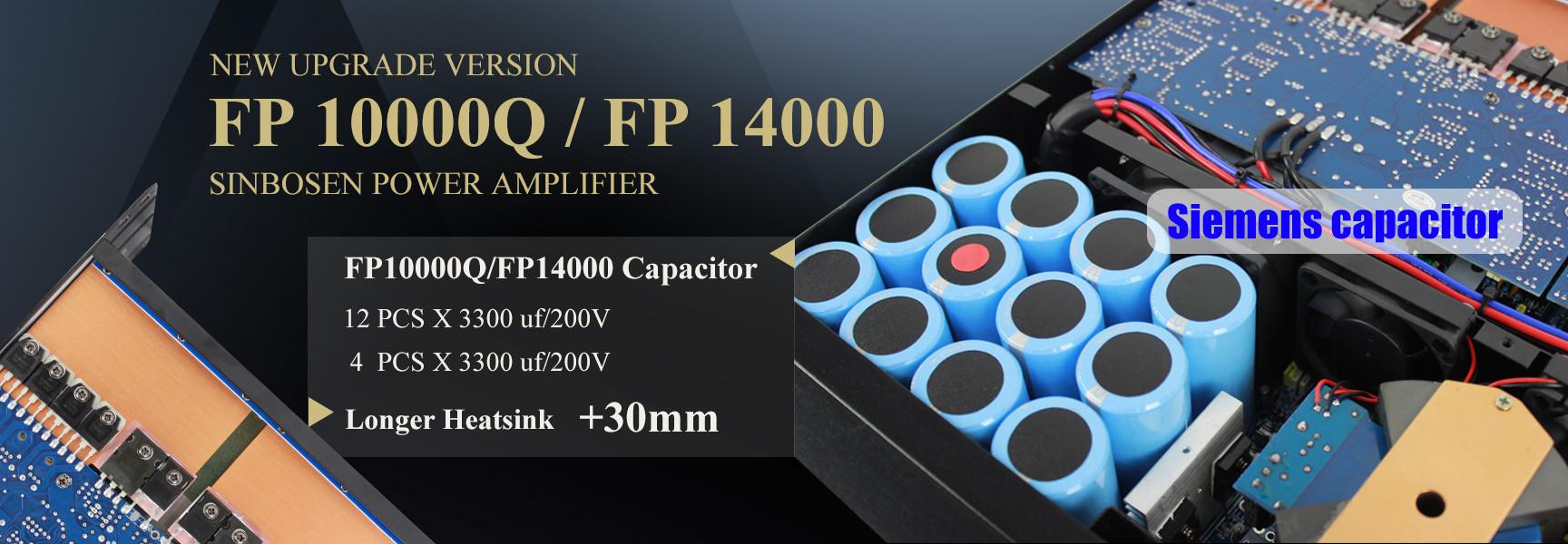 Versione aggiornata dell'amplificatore Sinbosen FP14000 / FP10000Q nell'agosto 2018