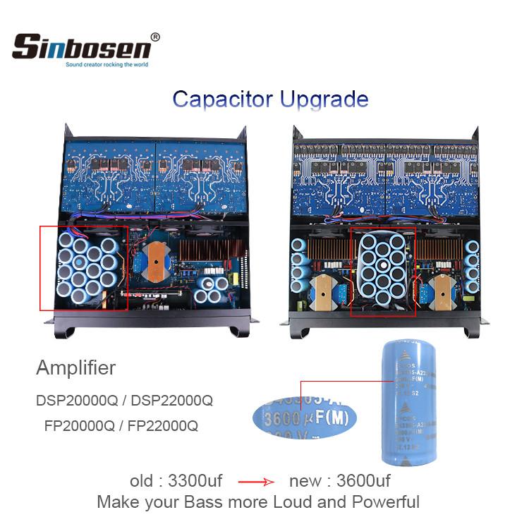 Sinbosen FP20000Q 4000 watt 4 channel professional bass