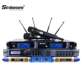 2 Ohm Leistungsverstärker 2 Eingang 6 Ausgang Audio Digitalprozessor Funkmikrofon-Set