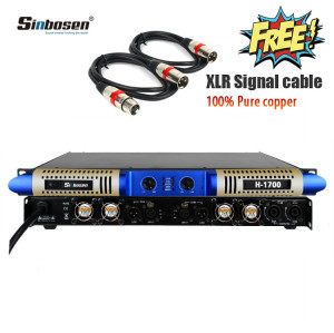 Amplificatore di potenza da 2ohm 2 set di microfono wireless con processore audio digitale a 6 ingressi e 6 uscite