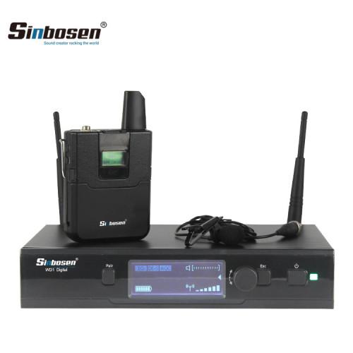 Sistema wireless UHF con trasmettitore Mic / ricaricabile per palmare digitale EWD1