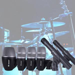 Sinbosen P-56 6pcs condenser dynamic jazz drum set microphone