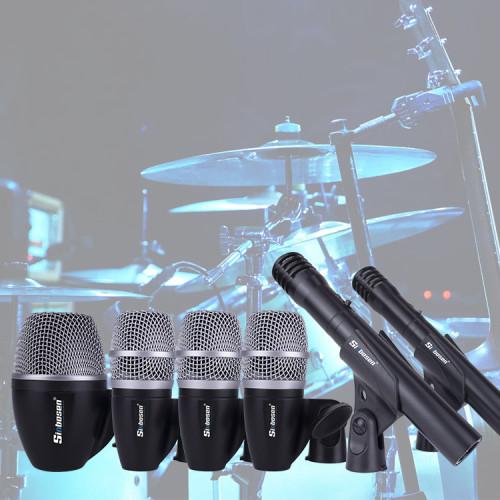 Micrófono de batería de jazz dinámico condensador de 6 piezas