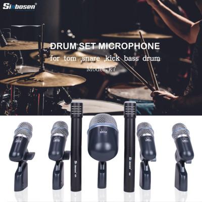 7 piezas condensador + micrófono de instrumento dinámico para batería