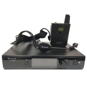 EWD1 Wiederaufladbares Headset-Mikrofon mit Taschensender UHF-Funkmikrofonsystem