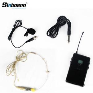 Microfono wireless con clip per colletto bodypack a 4 canali