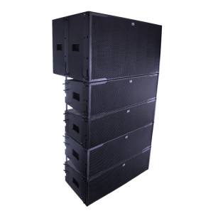 1200W Dual 18 inch subwoofer 12 inch line array speaker SA212+SA218B