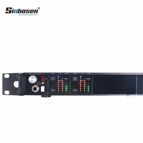 AD4D UHF Microfono per cuffie Pacchetto cintura trasmettitore wireless Mic