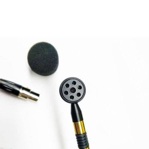 Instrumento Mini micrófono con cable de latón percusión viento de madera para bodypack inalámbrico
