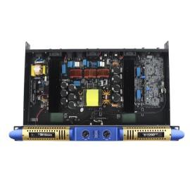 New design 1200w 1u class D digital K-1200 power amplifier with 2 channel