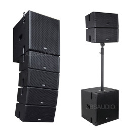Active Subwoofer powered 5 inch Line Array speaker  AO-5.4+AO-12B
