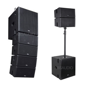 Active Subwoofer powered 5 inch Line Array speaker  AO-5.4+AO-12B