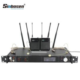 AD4D UHF-Kopfhörermikrofon Drahtloses Sendergürtelset Mic
