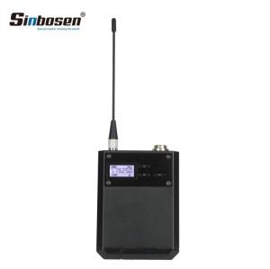 AD4D UHF Auriculares Micrófono Transmisor inalámbrico paquete de cinturón Micrófono