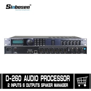 audio digital processor BDX 260 sound 2 In 6 out professional  High quality