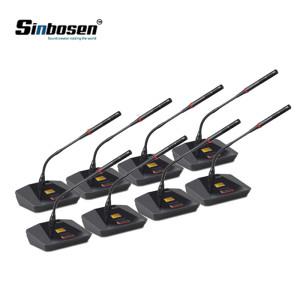 Micrófono de conferencia de 8 canales con micrófono de cuello de cisne inalámbrico para reuniones