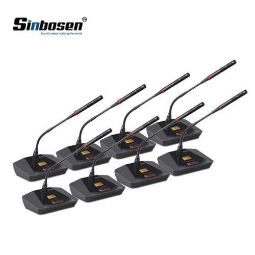 Microfono per conferenza con microfono a collo di cigno wireless a 8 canali per riunioni