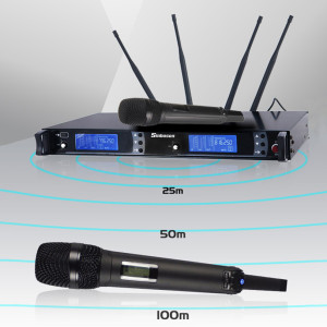 SKM 9000 UHF Professional Handheld Wireless Microphone System 4 Antenna True diversity Outdoor