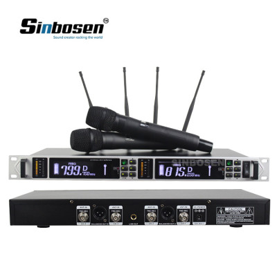 Dual channel digital condenser wireless microphone AXT200s