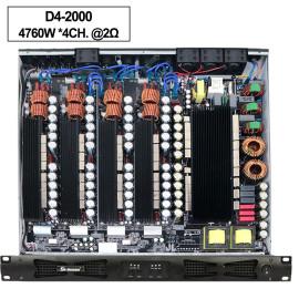 Sinbosen 2 Ohm stabil 4760 Watt 4CH Klasse d digitaler Hochleistungsverstärker D42000