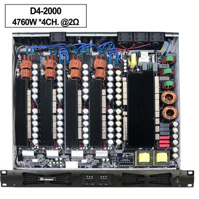 Sinbosen 2 ohmios estable 4760 vatios 4CH clase d amplificador digital de alta potencia D42000