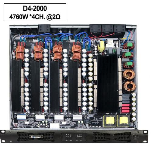 Sinbosen 2 ohm stabilny 4760 watów 4CH klasy d cyfrowy wzmacniacz dużej mocy D42000
