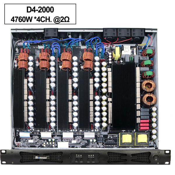 Amplificatore digitale ad alta potenza D42000 da 4CH classe 4CH stabile 2 ohm da 4760 watt