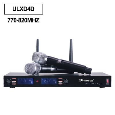 Sistema inalámbrico ULXD4D Micrófono de mano UHF 770-820MHz