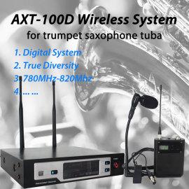 Digital wireless instrument microphone for trumpet saxophone tuba AXT-100D