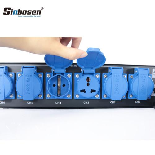 Controlador de potencia de altavoces de línea de distribuidor de potencia profesional de 6 canales