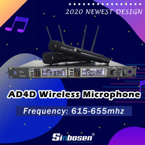 AD4D 300M 615-655MHz moving coil FM wireless microphone for sale