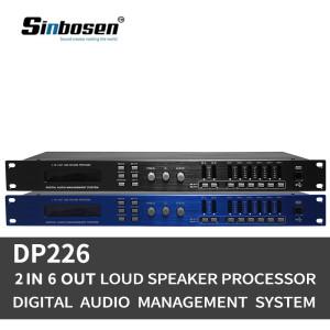 Dual precision 2 input 6 output DSP karaoke digital audio processor DP260 / DP226