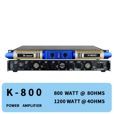 Class d digital ampliflier 800 watts 2 channel stereo professional audio K-800