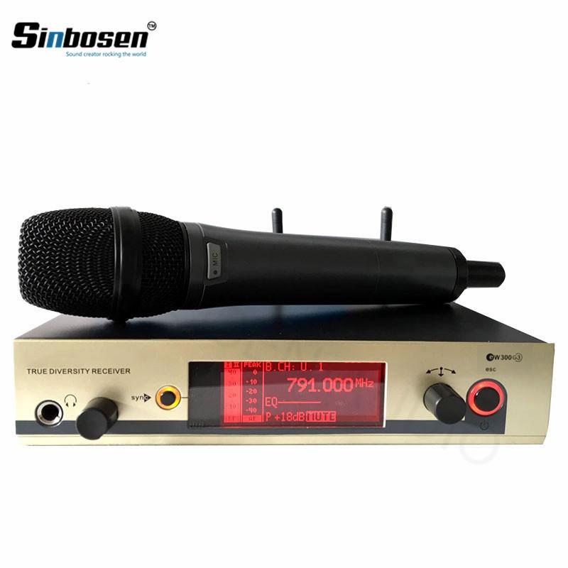 EW335 G3 Handheld-Mikrofon mit Nierencharakteristik True Diversity-Empfänger Professionelles Mikrofonsystem