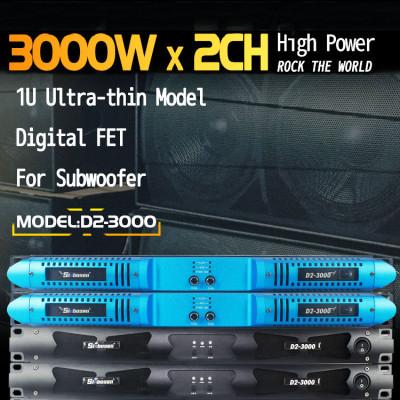 Amplificatore di potenza D2-3000 da 7140 watt 2CH classe d per subwoofer stabile da 2 ohm