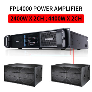 Sinbosen 4400w 2 channel high lab FP14000 power amplifier for dual 18-inch bass